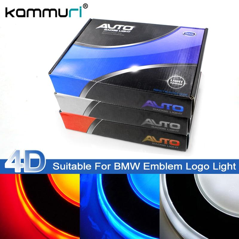 KAMMURI 4D Cold Light for BMW E46 E39 E60 E36 E90 F30 F20 F10 E30 e34 E38 E53 E87 X5 E53 E70 E83 led Emblem Badge Logo Lights