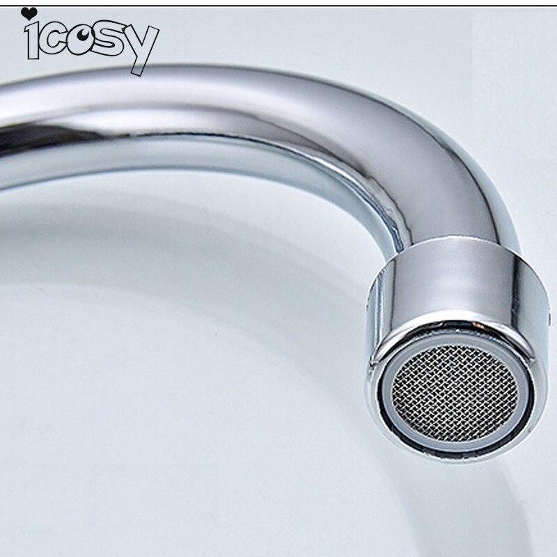 1PC Kitchen Faucet Single Cold Water Faucet Basin Brass Basin Bathroom Water Tap Chrome 33cm Kitchen Accessories Bathroom A12D15