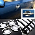 High Quality New Non-Rusty Chrome Door Handle Bowl Cover Cup Overlay Trim For Skoda Fabia 2008-2014