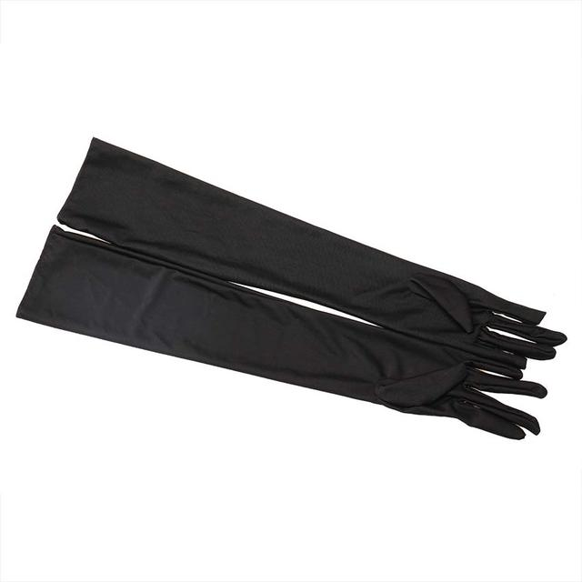 1 Pair Long Finger Elbow Sun Protection Gloves Opera Evening Party Prom Costume Fashion Gloves Black Red White 5