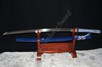 Clay Tempered Japanese Samurai Sword KATANA 1095 Steel Full Tang Blade Sharp Can Cut Bamboos Iron Tsuba Sales