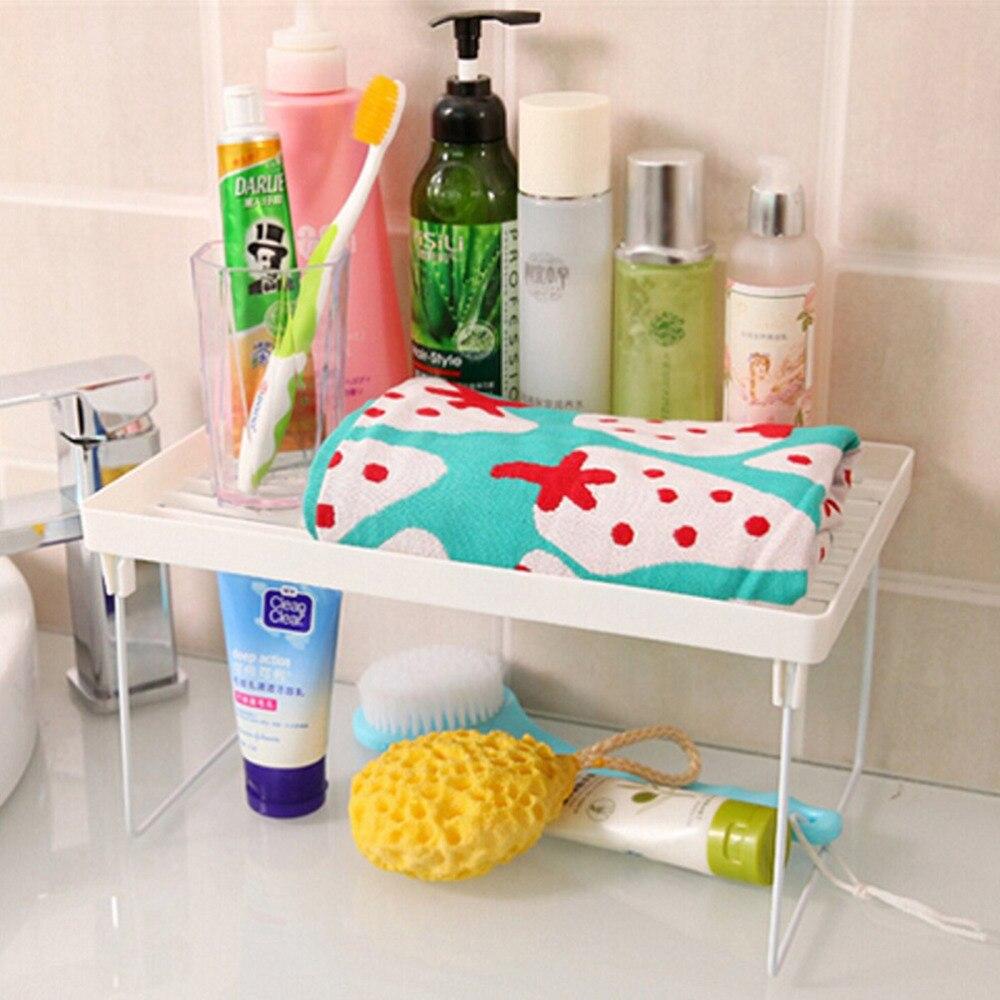 Kitchen Shelf Rack Singapore: Superposition Shelf Multilayer Snap Type Plastic Foldable