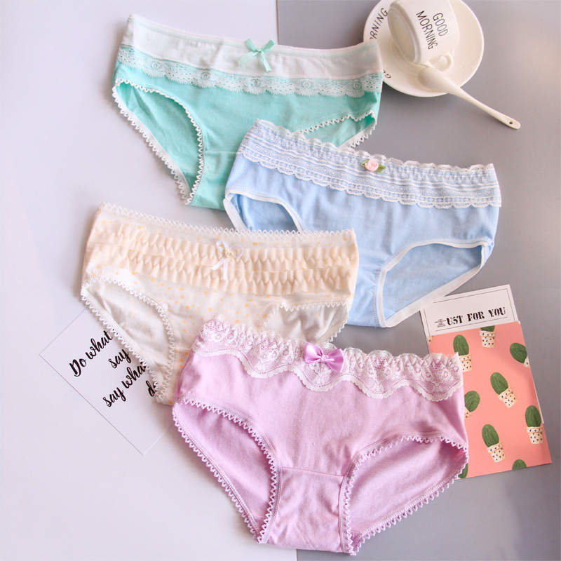 4pcs One Lot Mix Colors Girls Underwear Kids Underwear 441