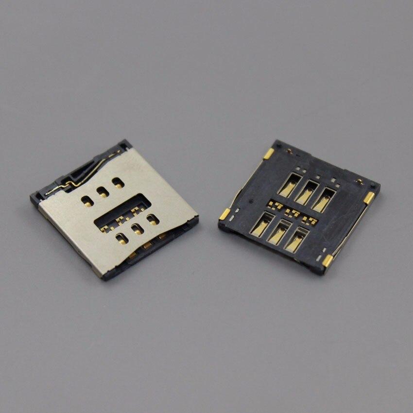 ChengHaoRan 10pcs/lot New For iPhone 5 5G SIM Card reader Tray Slot Holder ,KA-046