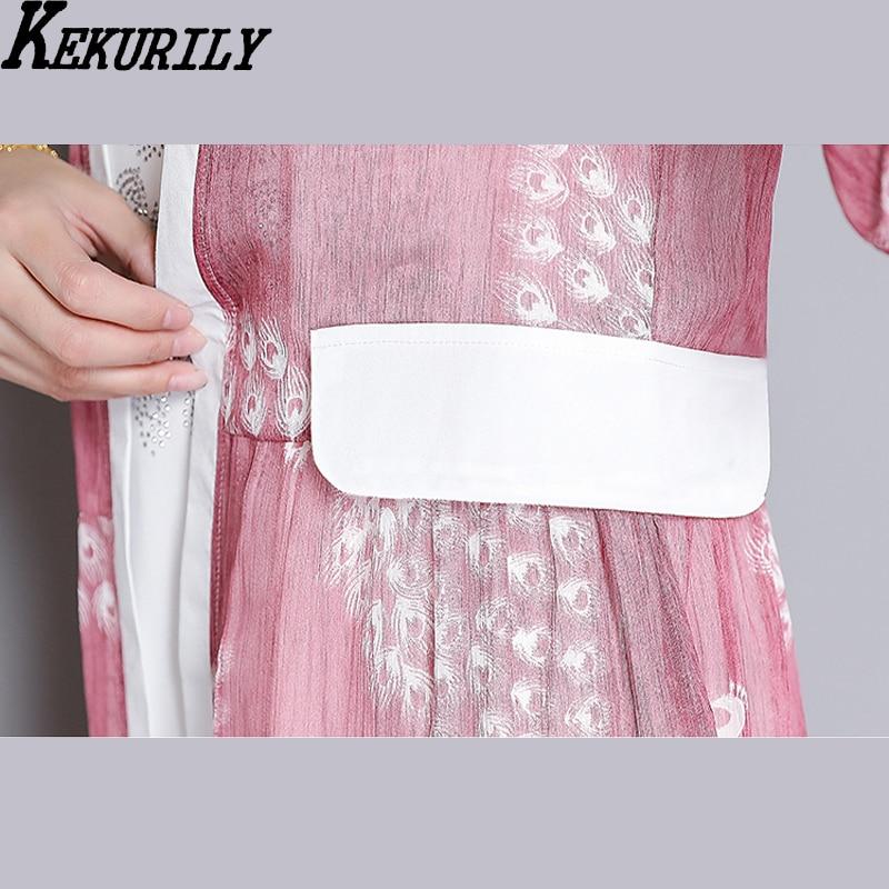 Mujeres vestidos de fiesta de verano kimono cardigan más tamaño ...