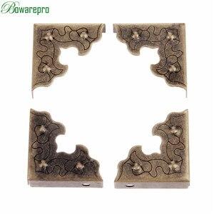Image 4 - Bowarepro antika mücevher kutusu köşe ayak ahşap kutu köşe koruyucu dekoratif köşe mobilya Metal el sanatları 25mm 10 adet