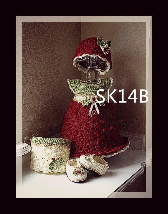 szydełkowa sukienka i czapka niemowlęca z kompletem - Odzież dla niemowląt - Zdjęcie 2