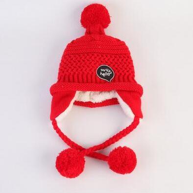 MTTUZB Autumn winter girls boys warm knitted hat sacrf set children fashion caps kids accessories scarves
