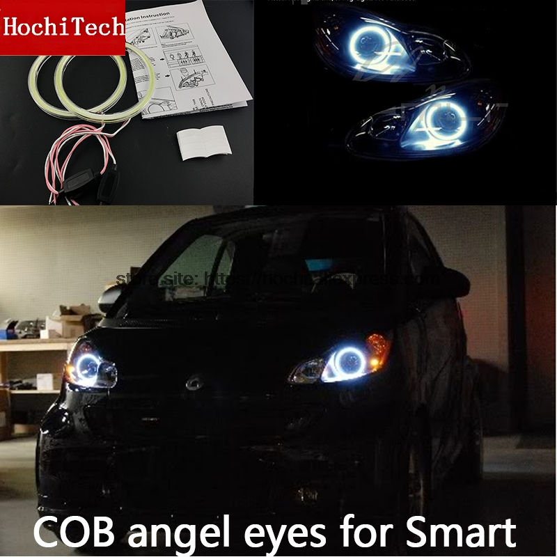 For Smart Fortwo W451 Mk2 2008 2009 2010 2013 2014 COB Led Day Light White Halo Cob Led Angel Eyes Ring Error Free Ultra Bright