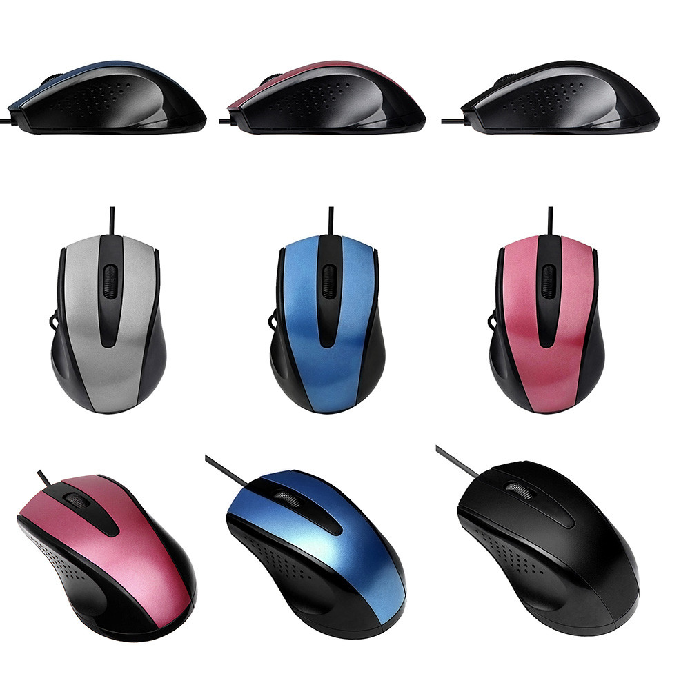 overmal Sensitive buttons For PC Laptop Fashion 1200 DPI USB Wired Optical Gaming Mice Mouse excellent feel