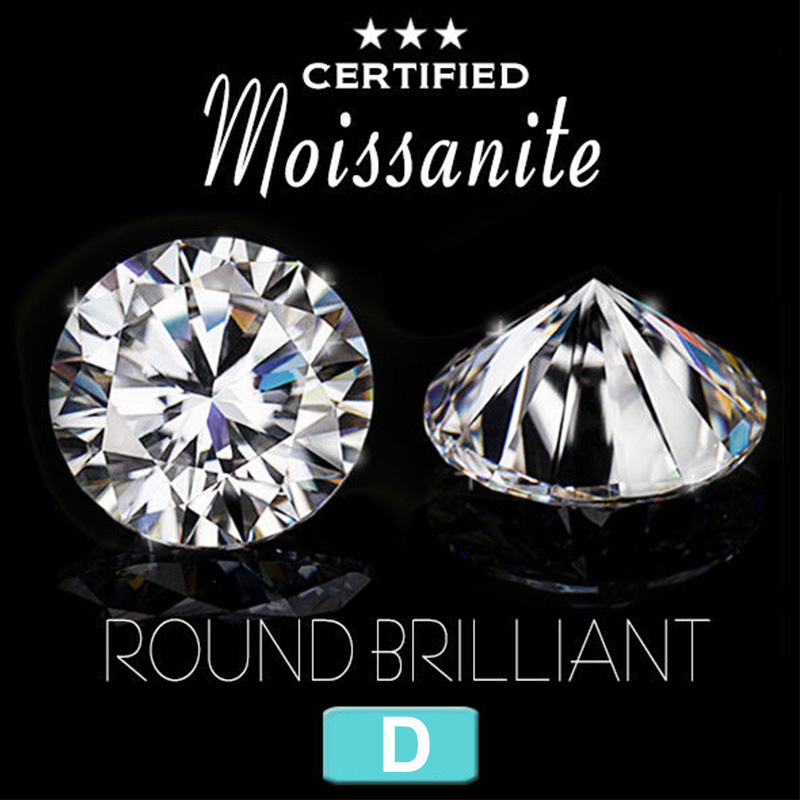 US $89 99 |Aliexpress com : Buy NiceGems Moissanite 1 2CTW Hearts And  Arrows Cut Colorless D Color 7MM Round Brilliant lab Grown Diamond Loose
