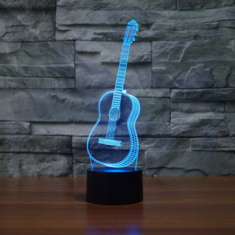 guitar night lighting festival 2016 7 colors changing touch button led table lamps night lights. Black Bedroom Furniture Sets. Home Design Ideas