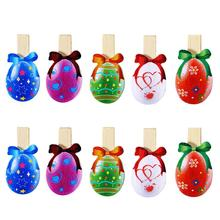 Popular wood egg holder buy cheap wood egg holder lots from china 10pcs easter eggs shaped wooden cute lovely pegs photo clips note memo card holder easter birthday party decor gift negle Choice Image