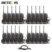 20 штук рация Retevis H777 3 Вт UHF 400 470 МГц Портативный радиоприемник комплект Ham радио Hf трансивер Связь инструмент