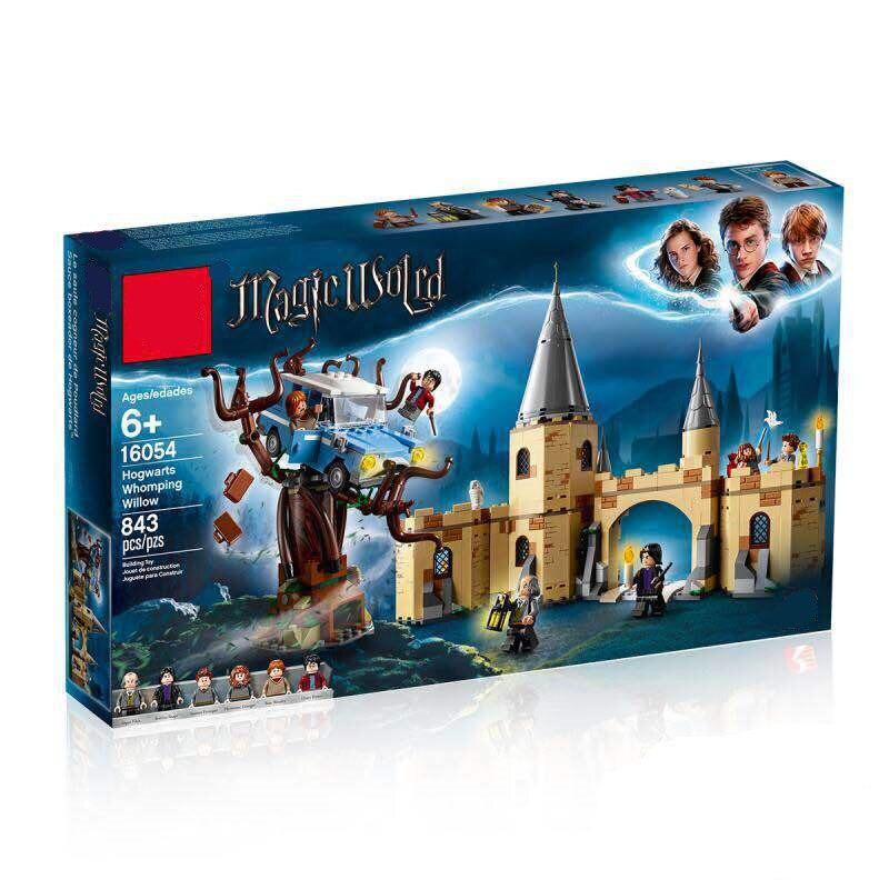 16054 Харри Поттер фильм Legoing 75953 Хогвартс Whomping ива Набор строительных Конструкторы кирпичи дети игрушечные лошадки рождественские подарки мо...