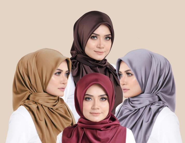 N27   High Quality Satin Silk  Hijab Wrap Shawls Lady Scarf Headband  Wrap 180*75cm 10pcs Can Choose Colors