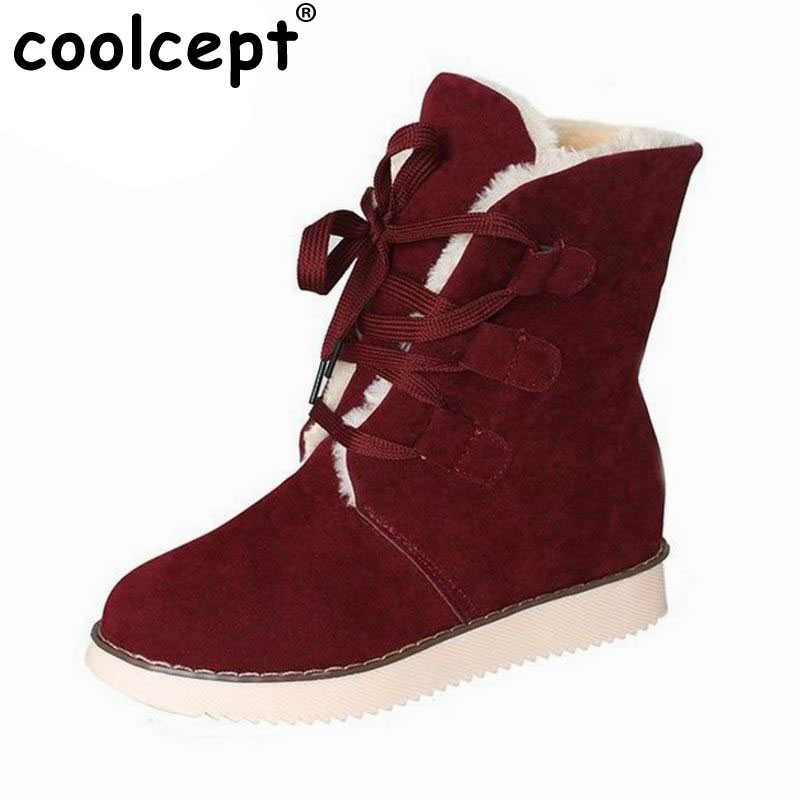 size 35-40 Russia cross strap flat mid calf boots women thickened fur winter warm snow half short boot footwear shoes P21267 women flat half short boot mid calf warm winter snow boots thickened fur plush botas fashion footwear shoes p22021 size 34 43