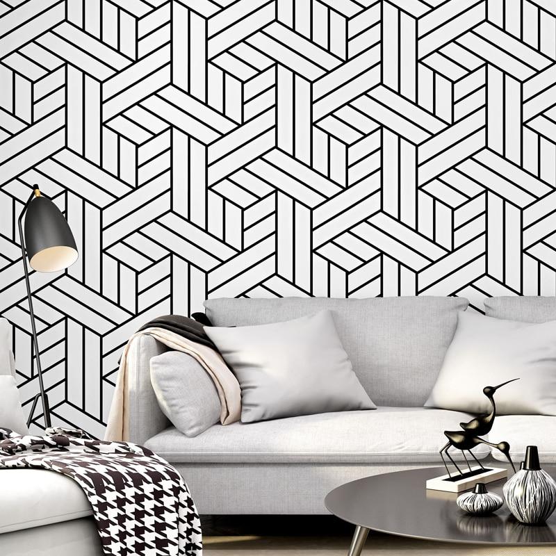 Modern Black And White Bedroom Wallpaper