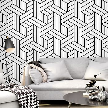 Nordic Abstract Pattern Black White Stripes Wallpaper Roll Modern Fashion Living Room Tv Background Bedroom Wallpapers Buy At The Price Of 38 00 In Aliexpress Com Imall Com