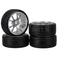 4 X 12mm Drive Hex 1 10 RC On Road Car Tire And Alloy 10 Spokes