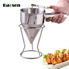 Baosen дозатор крема из нержавеющей стали, тесто, воронка-диспенсер, осьминог, шарики, кексы, вафельница, инструменты для выпечки