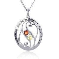 Genius 925 Sterling Silber Immer Meine Tochter Für Immer Mein Freund Anhänger Halskette Engel Besten Geschenke Weihnachten