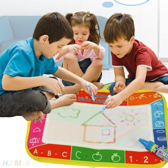Water Drawing Mat With Magic Pen Aquadoodle Doodle Board Educational Indoor Toys Boy Girl Gift Mixed Colors