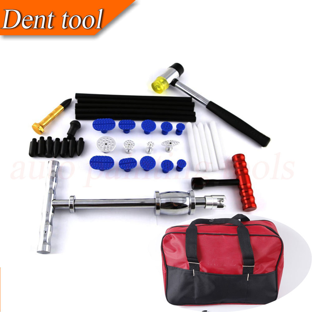 32 Pcs Dent Repair Kit PDR Slide Hammer with Tap Down Paintless Dent Repair PDR Glue Tab ...