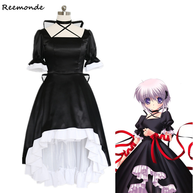 Games Rewrite Kagari Cosplay Costumes Sexy Meidofuku French Maid Facncy Uniform Outfit Princess Dress For Women Girls Carnival