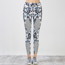 2017 New Women Fashion Leggings Camouflage Patchwork Leggins Sexy Slim Fit Bottoms Elastic Fitness Workout Thin Pants For Woman