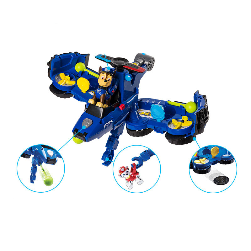 2019 Paw Patrol Toys aircraft car Two in one Deformation series Sound and light music Action Figures Toys for Children Gifts in Action Toy Figures from Toys Hobbies