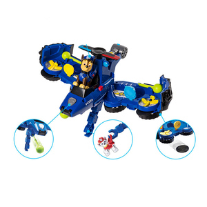Image 3 - 2019 Paw Patrol Toys aircraft car Two in one Deformation series Sound and light music Action Figures Toys for Children Gifts