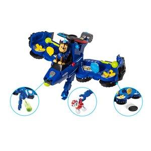 Image 3 - 2019 Paw Patrol zabawki samolot samochód dwa w jednym deformacji serii dźwięk i światło muzyka Action Figures zabawki dla dzieci prezenty