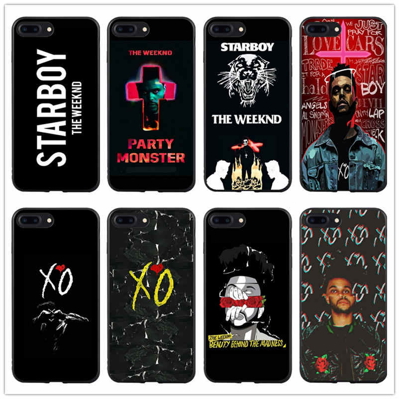 كندا المغني xo the weeknd starboy جراب هاتف آيفون 7 غطاء آيفون x case xs max xr 7 8 6s plus 5 5s se الصلب قطعة coque
