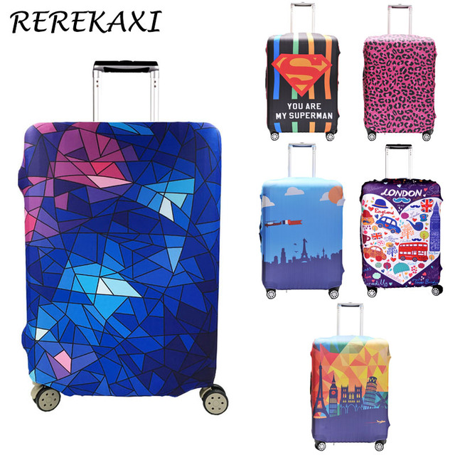 REREKAXI Travel Luggage And Suitcase Protective Cover for Trunk Case Apply to 18''-32'' Suitcase Cover Thick Elastic Perfectly