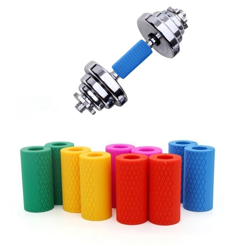 Body Building Silicon Handle Barbell Grips Bar Pull Up Thick Dumbbell Fat