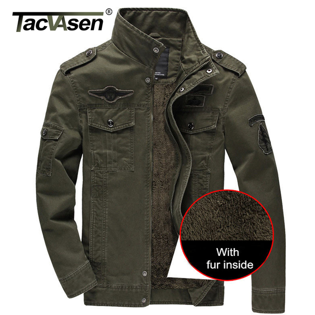 TACVASEN Men jacket Plus Size 6XL Casual For Winter Jackets Men Coat Army Tactical Military Coat Clothes Overcoat TD-QQC-002
