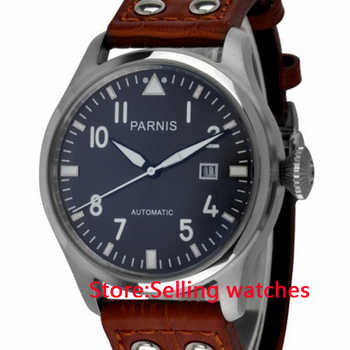 47mm Parnis Gray Dial White Number Automatic men watch - DISCOUNT ITEM  33% OFF All Category