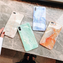 Marble Case on For  iphone 7 XS MAX Soft TPU Back Cover 6 6S 8 Plus X XR Phone