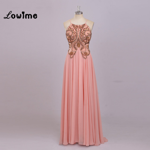 Sexy Sparkly Long Plus Size Pink Pregnant Prom Dress For Graduation ...
