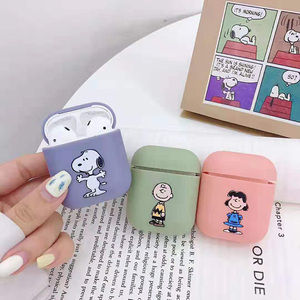 Image 1 - Bluetooth headset cover for apple airpods case peanuts Charlie dog wireless headphone cute Puppy silicone cover for airpods