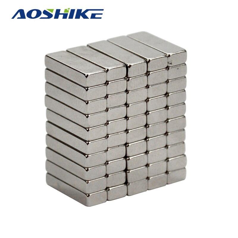AOSHIKE 50pcs N35 15*5*3mm Powerful Painting Magnet 15x5x3mm Craft Model Rare Earth Neodymium Magnets Block Cuboid 15mm*5mm*3mm neodymium nib magnet spheres 3mm 20 pack