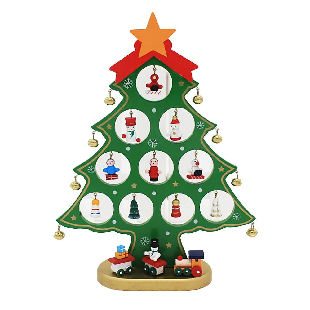 25,5 * 20 * 0,8 cm: n DIY söpö sarjakuvapuinen joulukuusi-koriste - Uudet kohteet ja gag-leluja - Valokuva 5