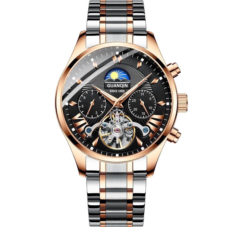 HTB1 2cwRhYaK1RjSZFnq6y80pXaP GUANQIN 2019 clock men's/mens watches top brand luxury automatic/mechanical/luxury watch men gold tourbillon mens reloj hombre