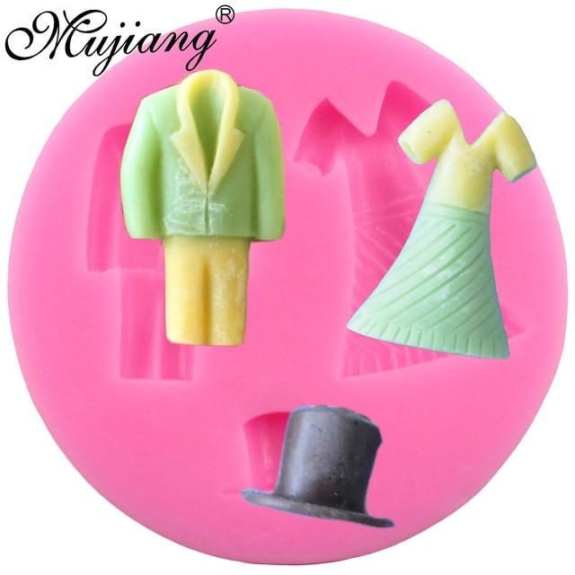 Mujiang Diy Schokolade Sussigkeiten Silikonform Braut Brautigam Hut