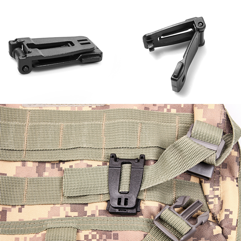 Bushcraft Multipurpose MOLLE Clip Tactical Strap Management Tool Web Dominator Buckle For Tactical Bag, Backpack