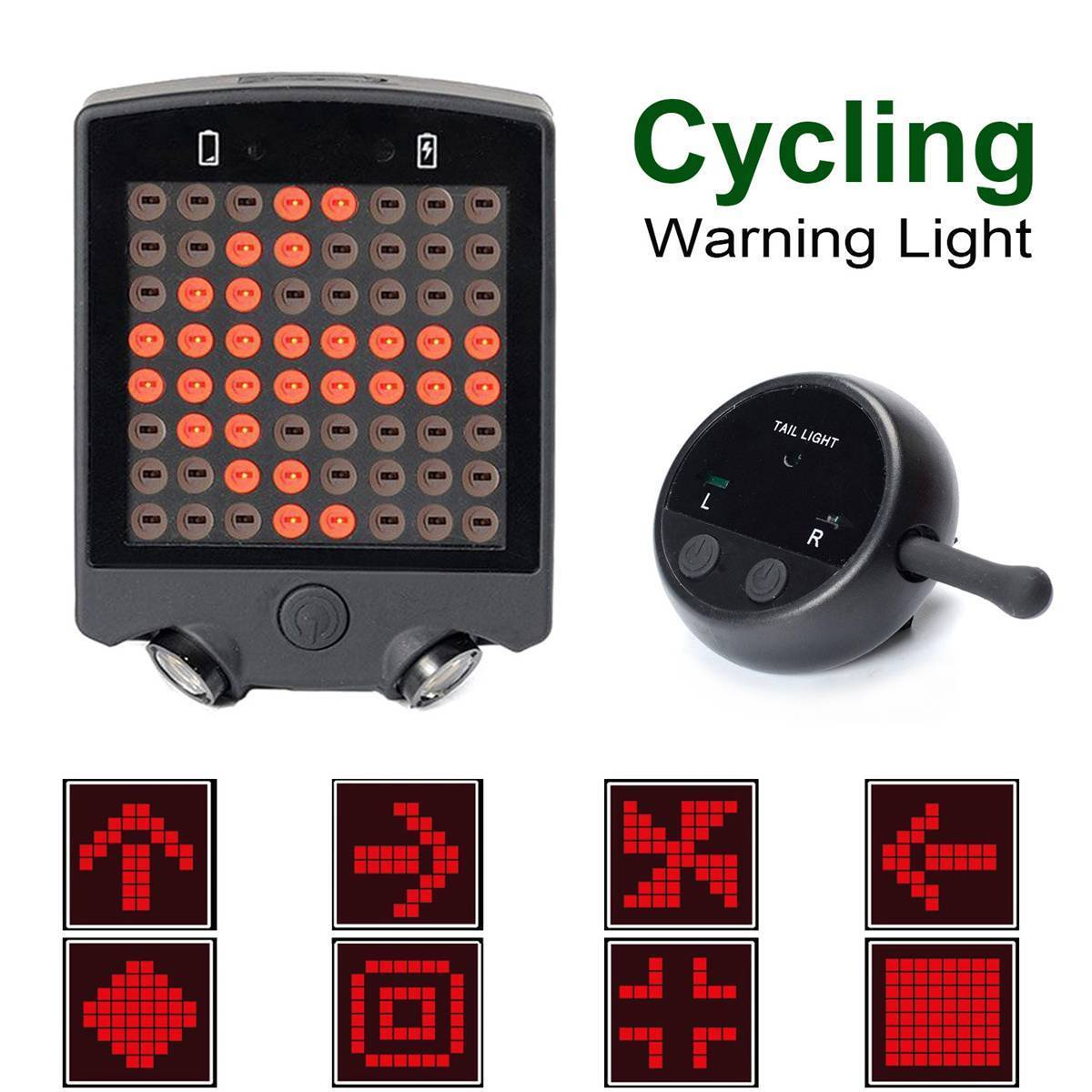 64 LED Laser Bicycle Rear Tail Light Bike Turn Signals Safety Warning Light bicycle light remote wireless laser USB Rechargeable meilan x5 wireless bike bicycle rear light laser tail lamp smart usb rechargeable cycling accessories remote turn led
