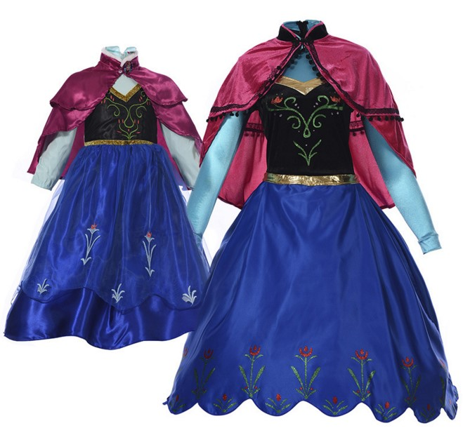 Halloween costumes for women Elsa Dress Anna princess parenthood costume fantasia infantil Child's and  Adult Size uniformes
