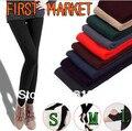 Бесплатная доставка, первичный рынок, женские леггинсы, яркие цвета, длина по щиколотку, бархатные, уплотненные штаны для женщин, опт и розница