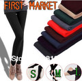 Free Shipping  First Market  Women Candy Colors Ankle length Velvet Leggings Thicken Pants for Winter Wholesale and Retail